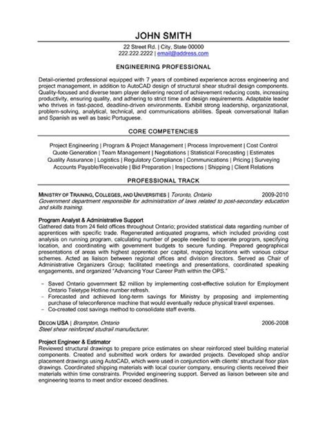 Resume Template For Engineers by Click Here To This Engineering Professional