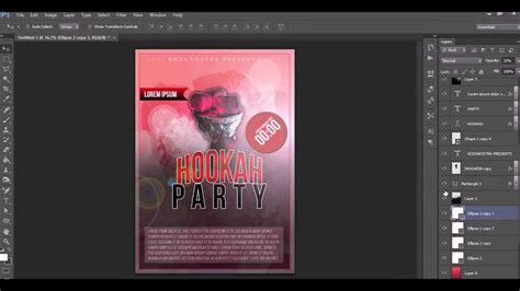 flyer design size photoshop how to design a flyer poster with photoshop youtube