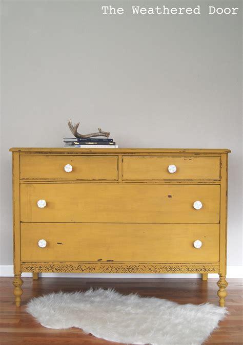 Mustard Yellow Dresser by A Chippy Mustard Yellow Dresser The Weathered Door