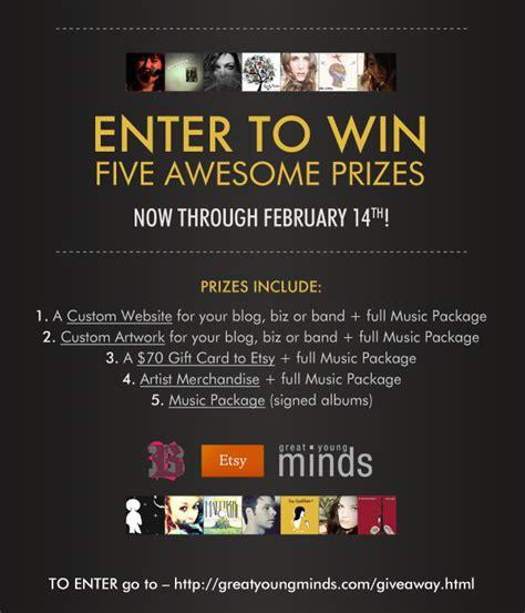Win Etsy Gift Card - enter to win music etsy gift card custom website art m a k i e