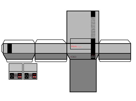 Nes Papercraft - nes papercraft by angrybirdfan on deviantart
