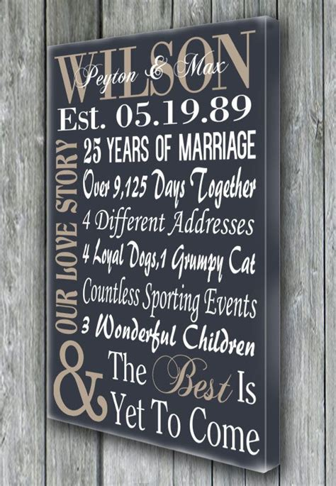 25th wedding anniversary gift ideas best 25 25th anniversary gifts ideas on 40th
