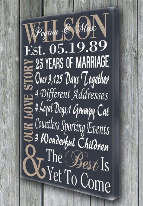 Personalized 5th 15th 25th 50th Anniversary by