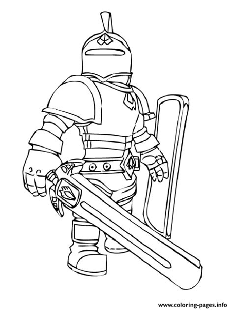printable coloring pages roblox print roblox knight coloring pages coloring pages