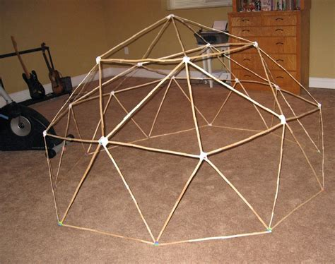 How To Make A Paper Geodesic Dome - almost unschoolers building a craft stick and tissue