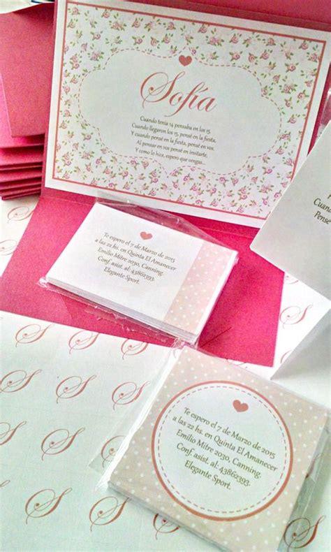tarjetas de quince anos participaciones invitaciones tarjetas de 15 a 241 os