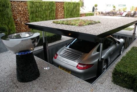 home improvement and design expo canterbury park park and hide sales double of thunderbirds style pop up garage that sinks into your drive