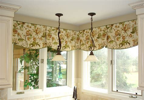 Modern Kitchen Valance Curtains Kitchen Bay Window Curtain Ideas Dining Table The Middle Room Modern Kitchen Window Valance