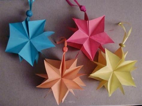 sterne zu weihnachten basteln mit papier origami  gifts