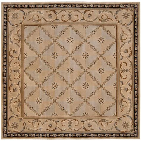 8 Foot Square Area Rugs Nourison Versailles Palace Beige 8 Ft X 8 Ft Square Area Rug 781109 The Home Depot