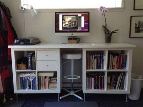 25 Ikea Kallax Or Expedit Shelf Hacks Hative Expedit Standing Desk