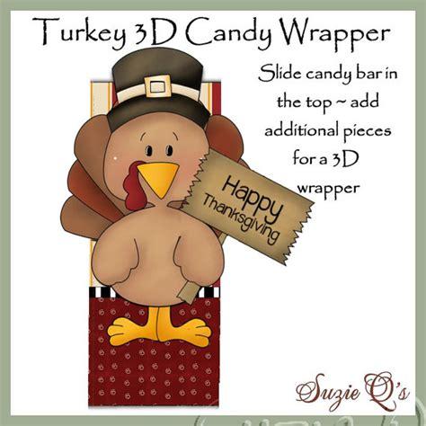 turkey lollipop printable turkey 3d candy bar wrapper digital printable immediate