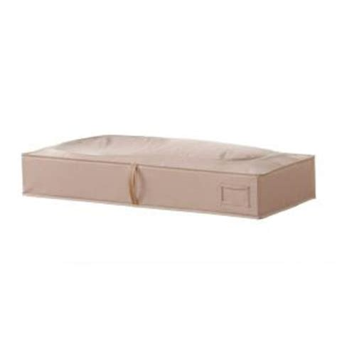 home depot under bed storage neatfreak under the bed storage bag in sand pebble taupe