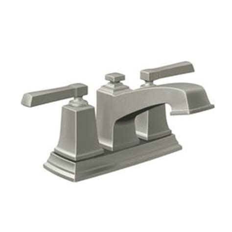 moen boardwalk bathroom faucet moen boardwalk spot resist brushed nickel 2 handle 4 in