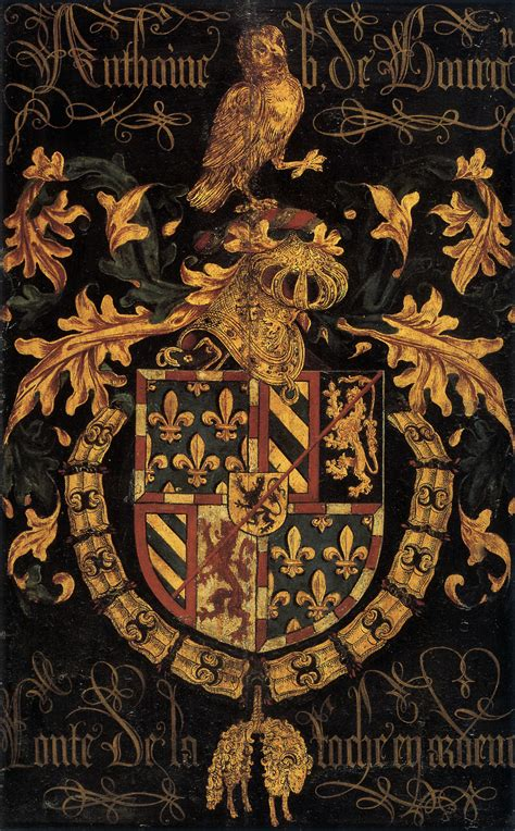 File:Shield of Antoine of Burgundy as knight of the Order