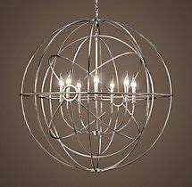 Foucault Single Orb Chandelier Canalside Interiors 1000 Images About Lighting On Polished Chrome Bathroom Sconces And Polished Nickel