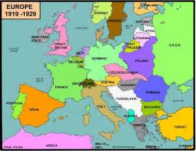 Europe Map 1919 by Cpi Tino Grand 237 O Bilingual Sections Map Competition
