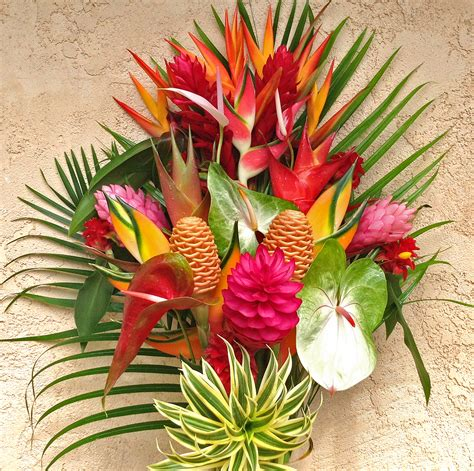 best flower arrangements quot best of kauai quot tropical flower arrangement features lots