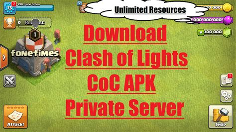 clash of lights update clash of clans server by clash of