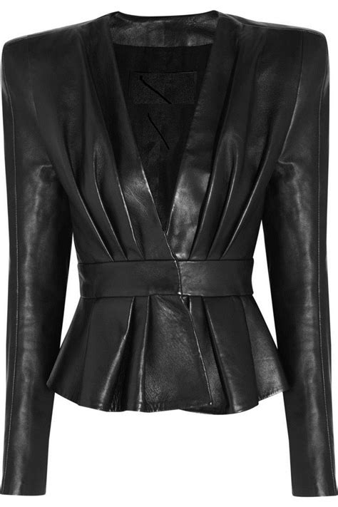Black Leather For Sale by Womens Black Leather Peplum Jacket For Salel Leather