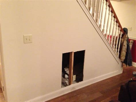 dog gate for inside house diy dog house under the stairs tutorial the rodimels family blog