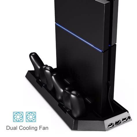 Sale Vertikal Stand Ps4 Stand Charging Cooling Fan Usb Hub ps4 vertical stand cooling fan dual charging station for playstation 4 dualshock 4 controllers