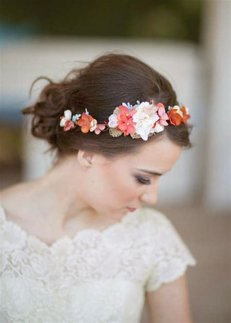 girl hairstyles vine wedding hair headband with flower