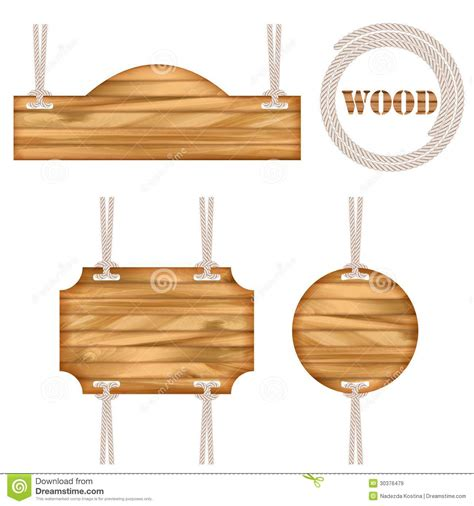 vector board layout wood vector frame rope design stock vector image 30376479