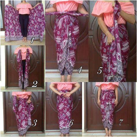 tutorial memakai kain batik 100 gambar tutorial kain batik jadi celana dengan the