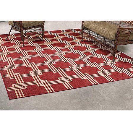 mainstays squares outdoor rug 8 x 10 walmart