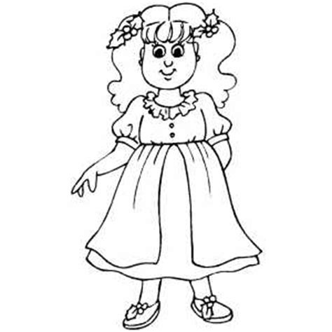 christmas dresses coloring pages little girl in christmas dress coloring sheet