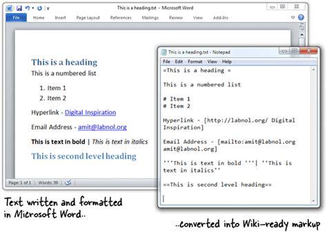 Office Word Editor Microsoft Word As A Wysiwyg Wiki Editor