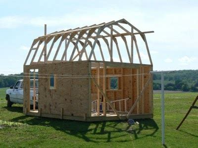 gambrel shed plans  jump   level