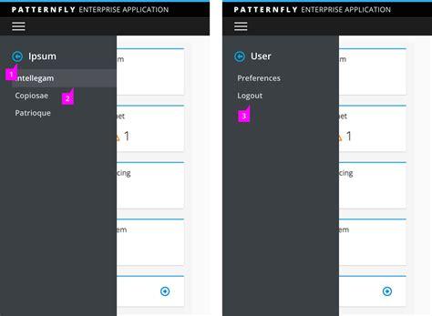 pattern library responsive vertical navigation patternfly