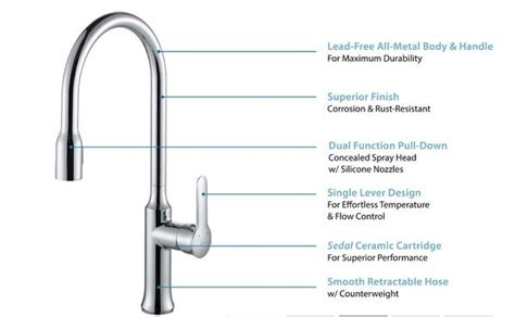allora a 726 bn kitchen faucet single handle pull down allora a 715 bn kitchen faucet single hole single handle