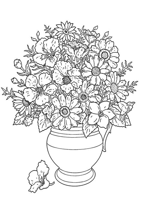 coloring pages of bunch of flowers kleurplaat bos bloemen coloring page bunch of flowers