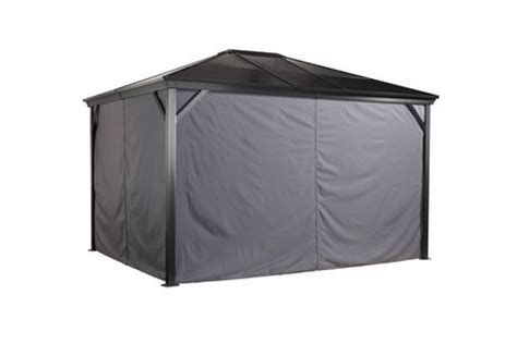 10x12 gazebo privacy curtain sojag verona gazebo privacy curtains walmart ca