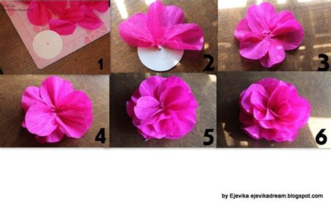 como hacer flores con papel crepe paso a paso tutorial flores de papel crepe grandes paso a paso imagui