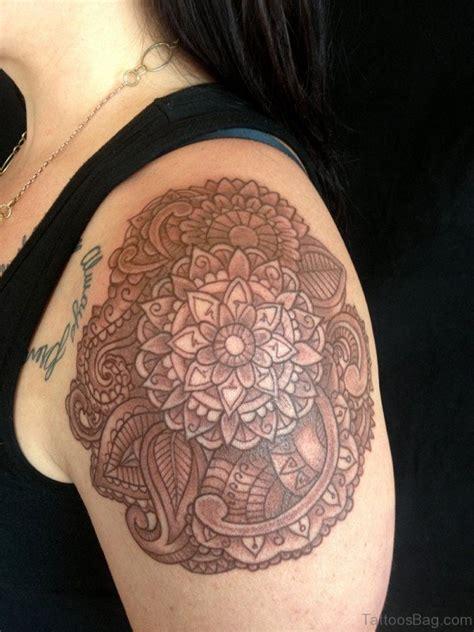 brown ink tattoo 34 lovely brown ink tattoos on shoulder