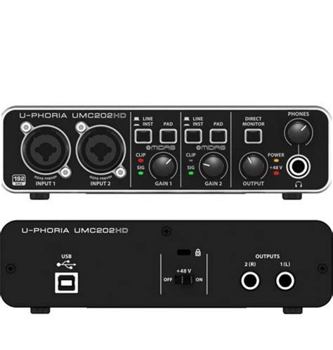 Soundcrad Behringer Umc 202 Hd presonus audiobox 22vsl