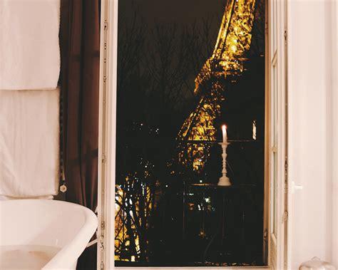 eiffel tower bathroom taking a bath in front of the eiffel tower
