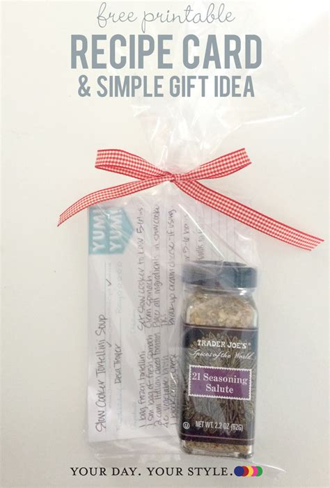quick printable recipes quick gift idea with free recipe cards
