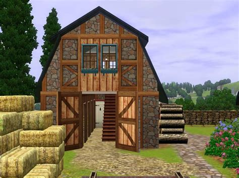 Free Barn Plans by Mod The Sims French Country Farm House
