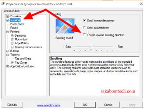 Asus Laptop Touchpad Not Scrolling Windows 10 how to enable touchpad scrolling in windows vista todaymatt