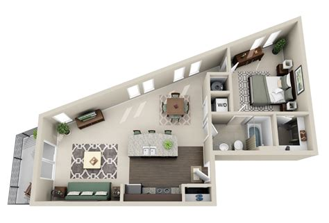Skinny Houses Floor Plans 50 one 1 bedroom apartment house plans architecture