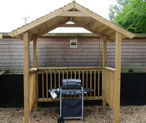 Bq Sheds For Sale by Softwood Garden Bbq Shelter Somerlap Forest Products