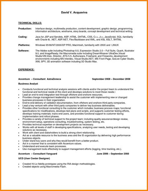 skills on resume exle 6 technical skills cv reporter resumes