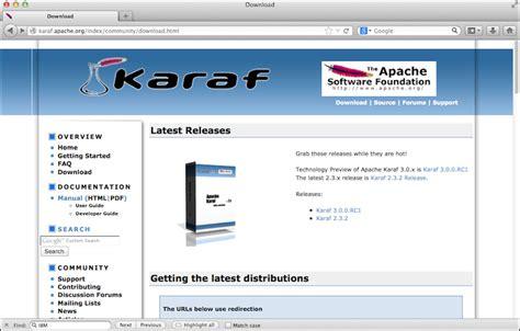 karaf tutorial github obtaining apache karaf distribution learning apache