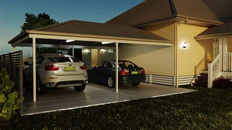 carport 9m carport attached hip roof 9m x 7m smartkits australia