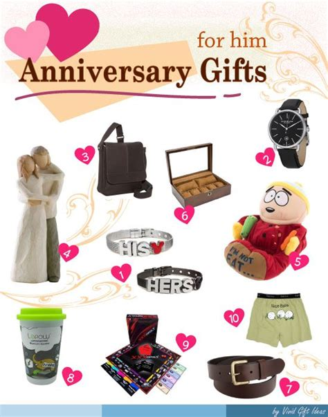 best anniversary gift ideas for him best anniversary
